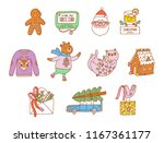 christmas vector illustrations... | Shutterstock .eps vector #1167361177
