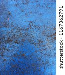 the old blue metal surface... | Shutterstock . vector #1167362791