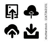 4 upload icons with upload to... | Shutterstock .eps vector #1167363151
