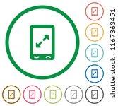 mobile pinch open gesture flat...   Shutterstock .eps vector #1167363451