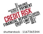 credit risk word cloud collage  ... | Shutterstock .eps vector #1167365344