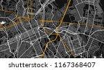 black white map city curtiba   Shutterstock .eps vector #1167368407