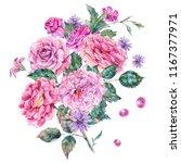 decorative vintage watercolor... | Shutterstock . vector #1167377971