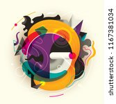 abstract style composition in... | Shutterstock .eps vector #1167381034