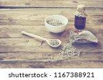 homemade sachet with wormwood ... | Shutterstock . vector #1167388921