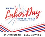 happy labor day vector... | Shutterstock .eps vector #1167389461