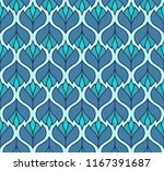 vector blue floral abstract... | Shutterstock .eps vector #1167391687