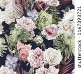 seamless floral pattern with... | Shutterstock . vector #1167393721