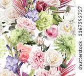 seamless floral pattern with... | Shutterstock . vector #1167393727