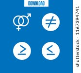 4 equal vector icon set with is ... | Shutterstock .eps vector #1167394741