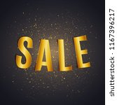sale golden shiny paper text on ... | Shutterstock .eps vector #1167396217