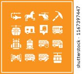 16 Tourist Vector Icon Set Wit...