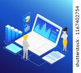isometric financial analysis.... | Shutterstock .eps vector #1167402754