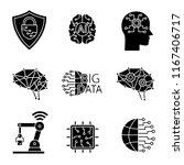 artificial intelligence glyph... | Shutterstock .eps vector #1167406717