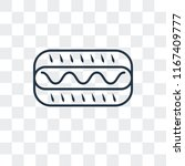 hot dog vector icon isolated on ... | Shutterstock .eps vector #1167409777
