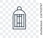 cage vector icon isolated on... | Shutterstock .eps vector #1167410767
