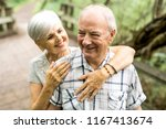 happy old elderly caucasian... | Shutterstock . vector #1167413674
