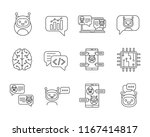 chatbot linear icons set. thin... | Shutterstock .eps vector #1167414817