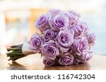 Purple Rose Bouquet For The...