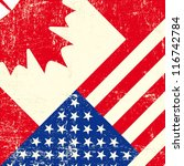 canadian and american grunge... | Shutterstock .eps vector #116742784