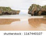 cuevas del mar beach  asturias  ... | Shutterstock . vector #1167440107