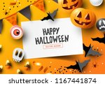halloween holiday party... | Shutterstock .eps vector #1167441874