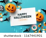 halloween  party composition... | Shutterstock .eps vector #1167441901