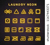 laundry neon style icon set... | Shutterstock .eps vector #1167443371