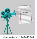 vintage professional camera for ... | Shutterstock .eps vector #1167445744
