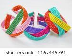 summer colorful bracelet | Shutterstock . vector #1167449791