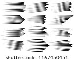speed lines isolated set.... | Shutterstock .eps vector #1167450451