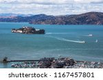 view of alcatraz from coit tower | Shutterstock . vector #1167457801