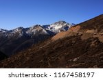 mountain pass on the road... | Shutterstock . vector #1167458197