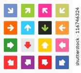 arrow sign popular colors icon. ...