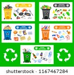 reduce  reuse  recycle waste.... | Shutterstock .eps vector #1167467284