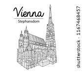 vienna sightseeing illustration.... | Shutterstock .eps vector #1167468457