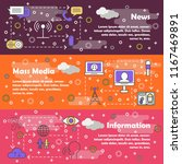 mass media vector web banner... | Shutterstock .eps vector #1167469891