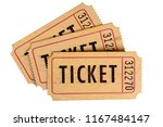 old used torn tickets isolated... | Shutterstock . vector #1167484147