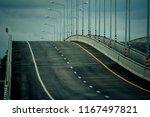 concrete bridge on the highway. ... | Shutterstock . vector #1167497821