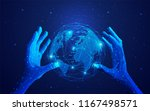 concept of global network or... | Shutterstock .eps vector #1167498571