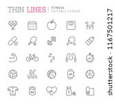collection of fitness related... | Shutterstock .eps vector #1167501217