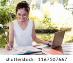 young asian woman student...   Shutterstock . vector #1167507667