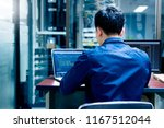 young it engineer working at... | Shutterstock . vector #1167512044