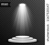 stage podium illuminated scene... | Shutterstock .eps vector #1167520147