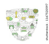 theater premiere vector concept ... | Shutterstock .eps vector #1167520597