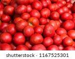 fresh red heirloom tomato...   Shutterstock . vector #1167525301