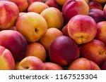 fresh red yellow nectarine...   Shutterstock . vector #1167525304