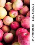 fresh yellow red apple...   Shutterstock . vector #1167525331