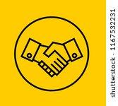 shaking hands icon vector.   Shutterstock .eps vector #1167532231