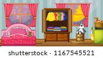 a child bedroom template... | Shutterstock .eps vector #1167545521